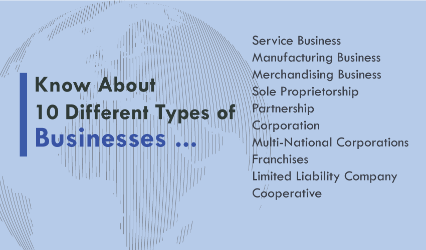 Know About 10 Different Types of Businesses